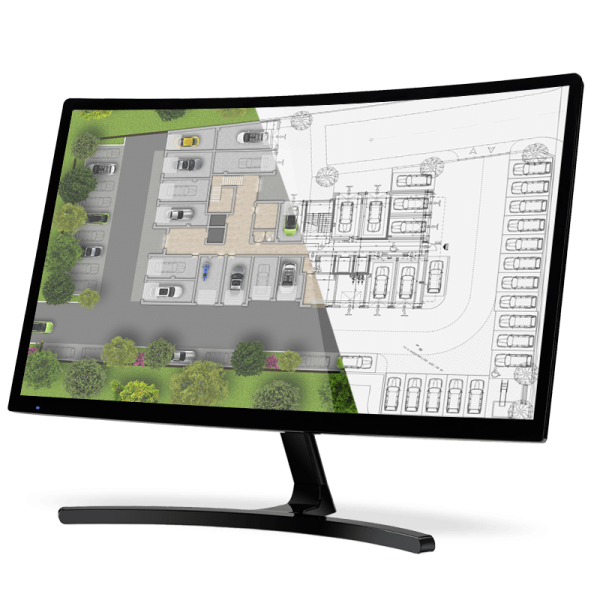 2D визуализация на жилищна сграда